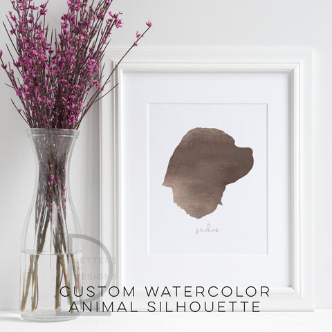 Water Color Animal Silhouette Portrait- Digital Only