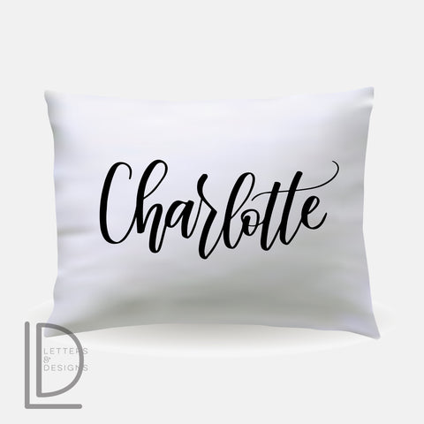 Custom Lettered Pillowcase