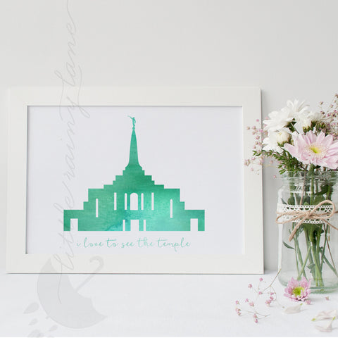 Gilbert Arizona Temple - LDS Temple art