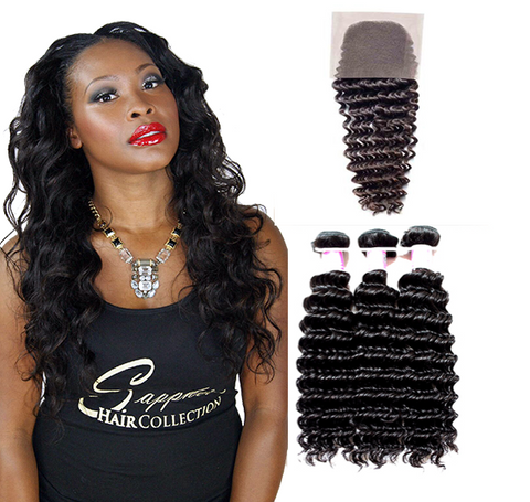 Lace Closure - Ultra Wave  + 3 Bundles