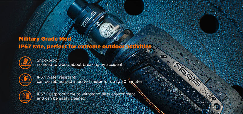 Geekvape Aegis Max Starter Kit Shockproof, Dustproof, and Waterproof