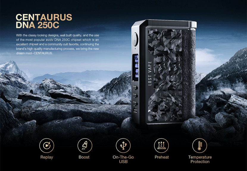 Lost Vape Centaurus Box Mod Features