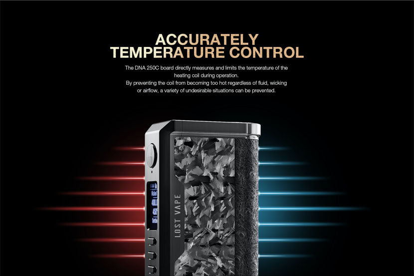 Lost Vape Centaurus Box Mod Temperature Control