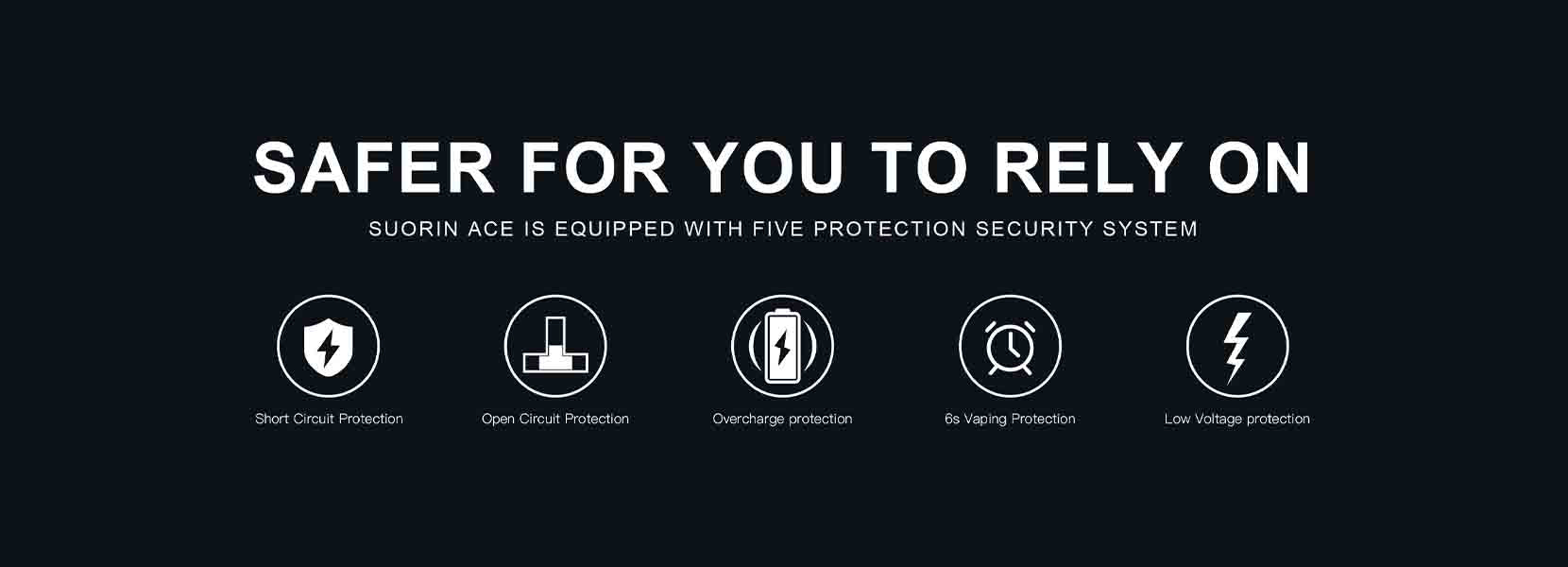 Suorin Ace Pod System Safety Protection