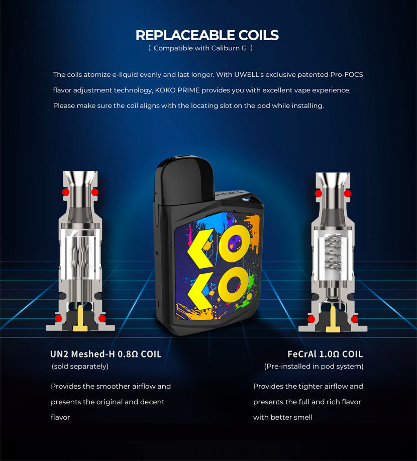 UWELL Caliburn Koko Prime Replacement Coils