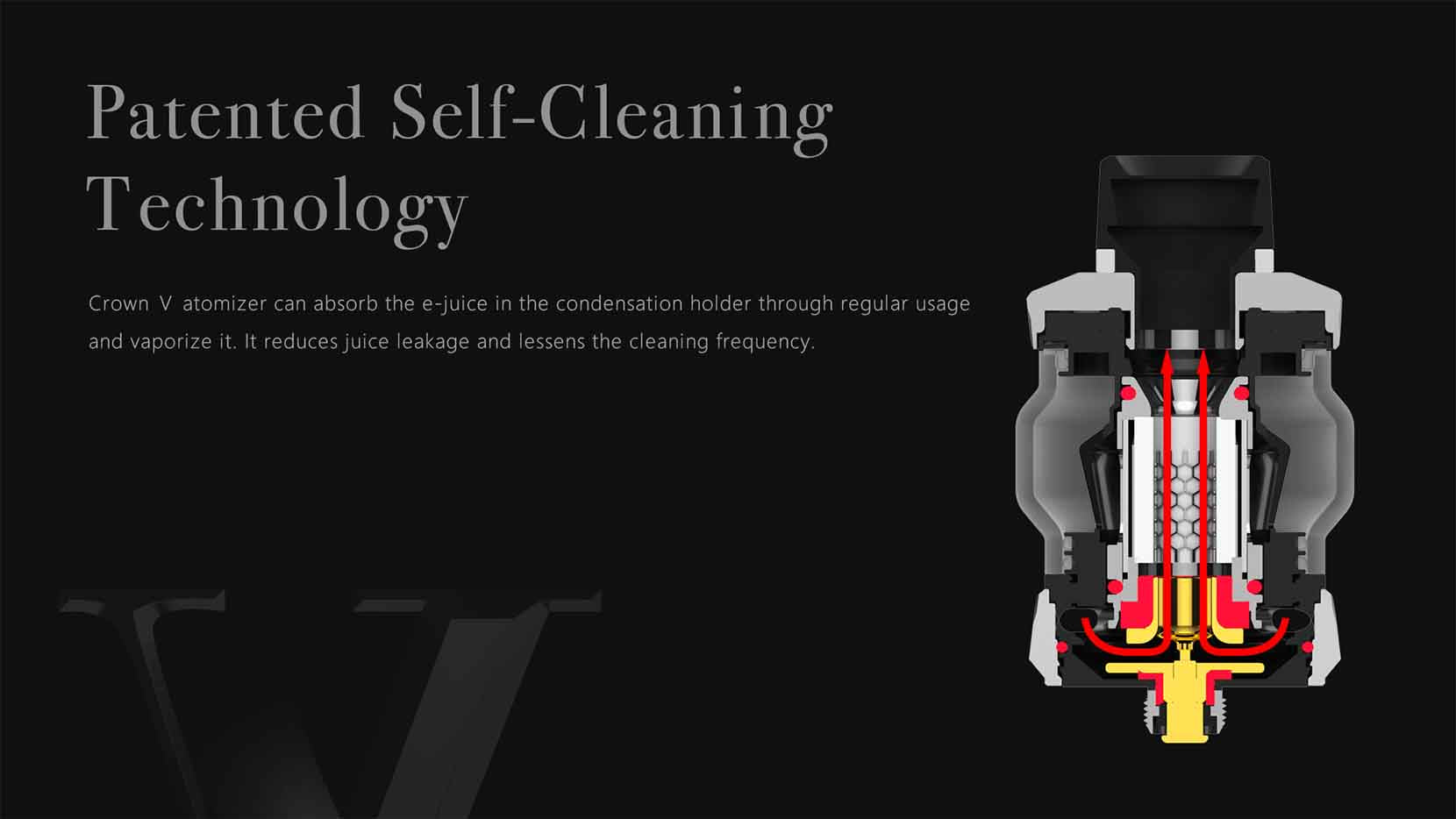 Uwell Crown 5 Sub-Ohm Tank Self Cleaning Technology