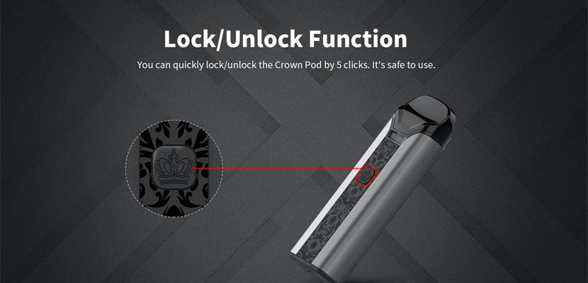 Uwell Crown Pod System Lock Function
