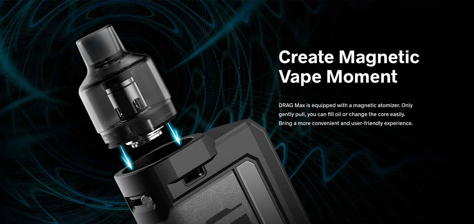 Voopoo Drag Max Pod Mod Kit Magnetic Atomizer