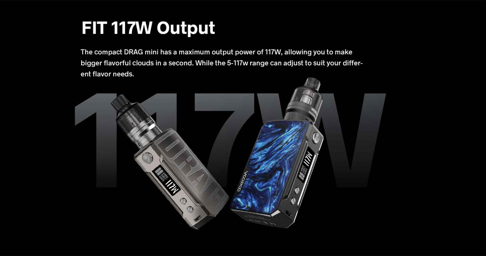 Voopoo Drag Mini Refresh Edition Power Output