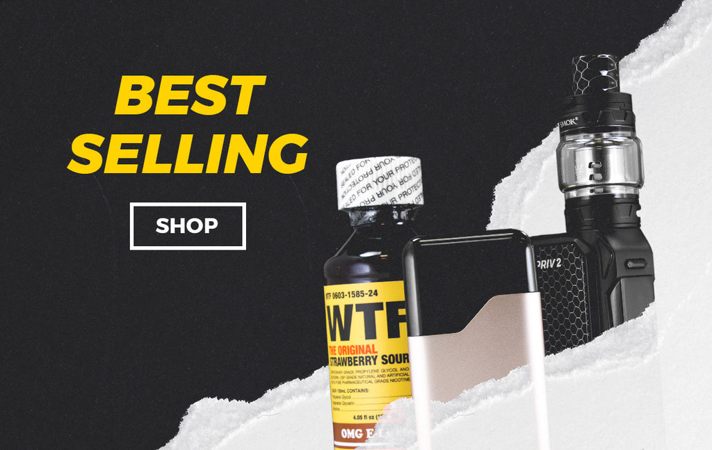A collection of our best selling vape products including E-Liquids, Atomizers, Devices, and Accessories.