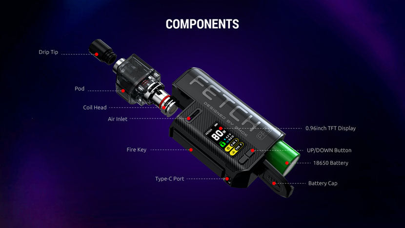 SMOK Fetch Pro Pod System Components