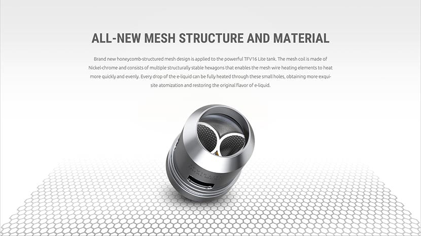 SMOK TFV16 Lite new mesh coil structure