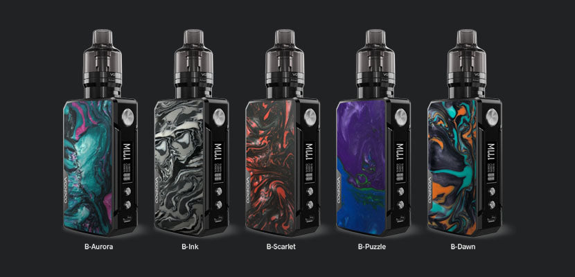Voopoo Drag 2 Refresh Battery Colors