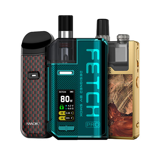 Pod Systems: Lost Vape Quest, SMOK Fetch Pro, SMOK Nord 2