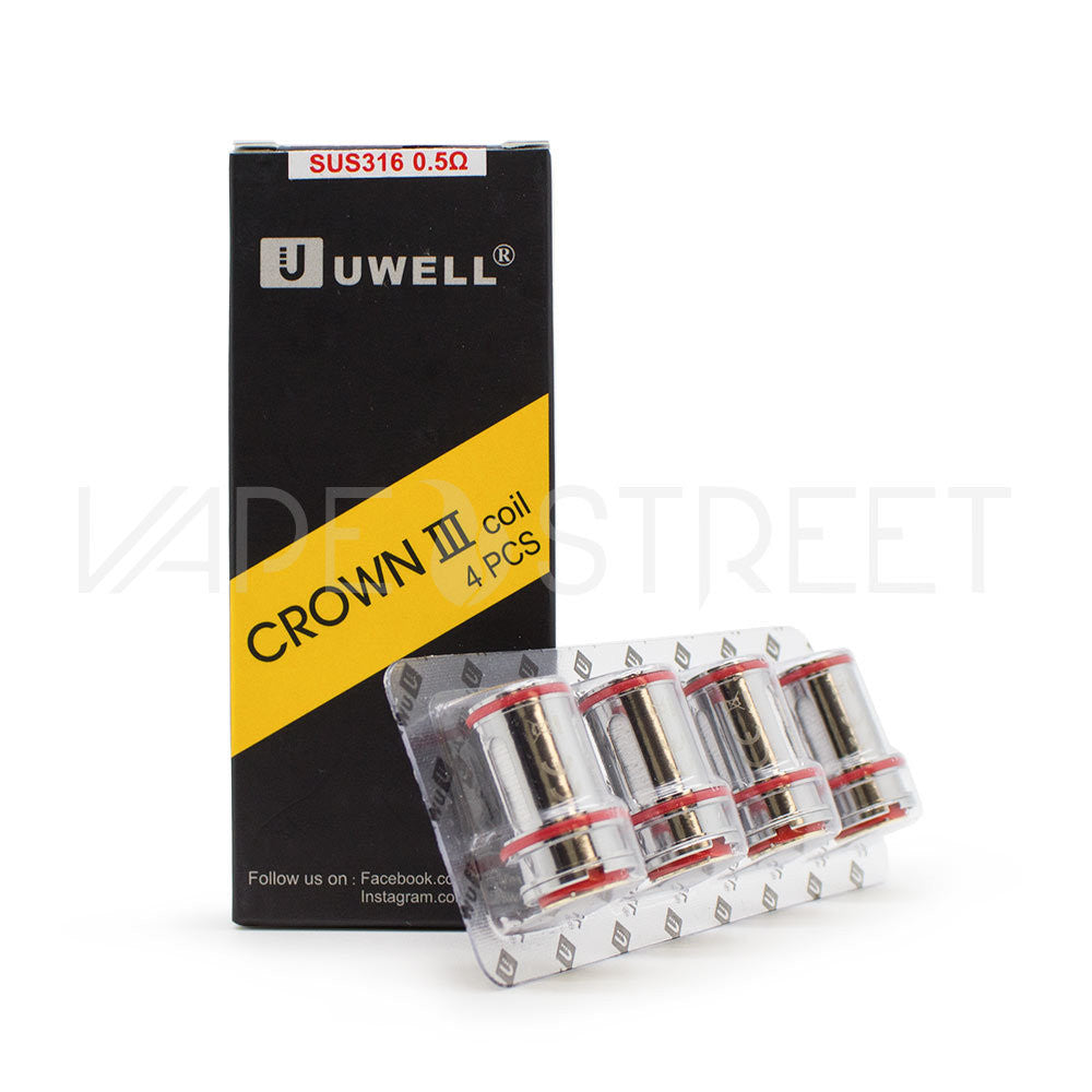 Crown 3 Replacement Coils by Uwell (0.25 or 0.5ohms)