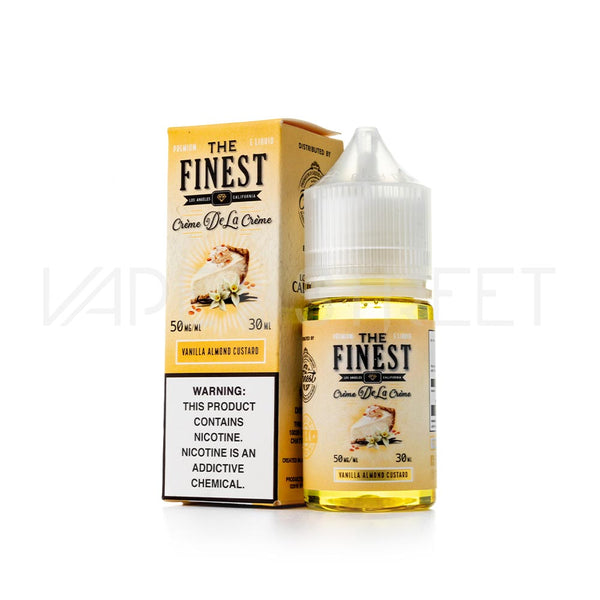 The Finest SaltNic Creme De La Creme Vanilla Almond Custard E Juice