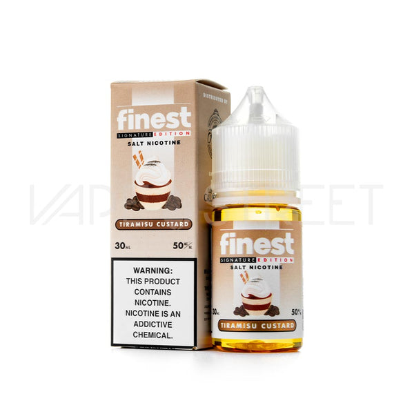 The Finest SaltNic Signature Edition Tiramisu Custard E Juice