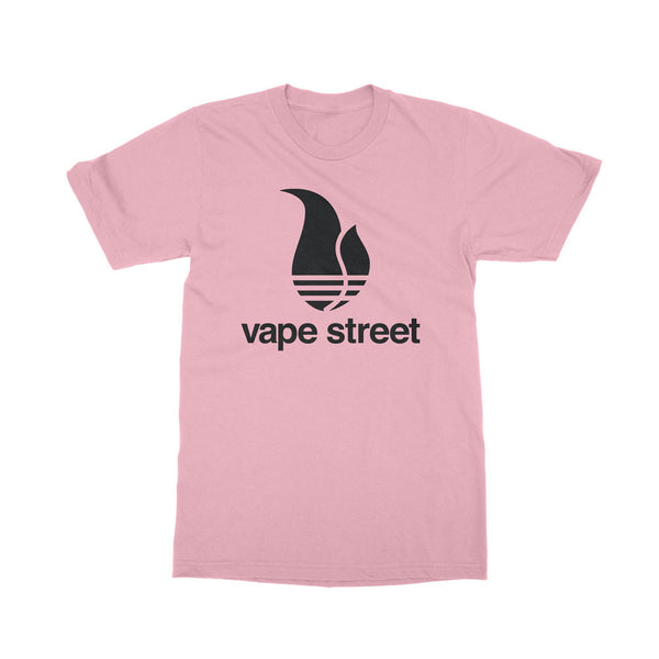 Vape Street 3 Stripes Pink T-Shirt
