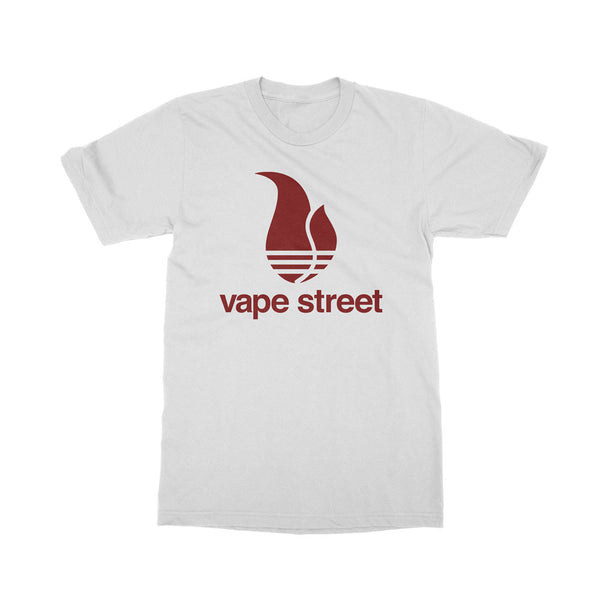 Vape Street 3 Stripe White T-Shirt