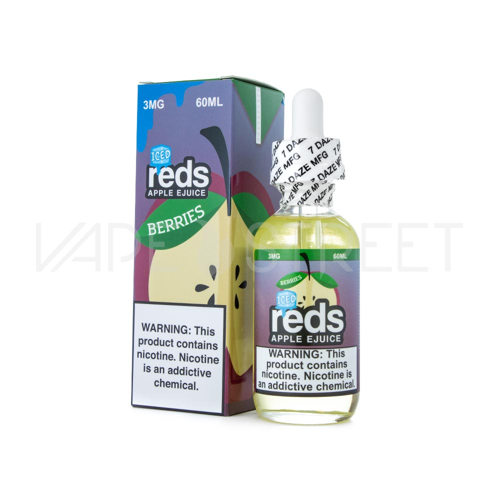 Reds Apple Ejuice Berries Iced by Vape 7 Daze