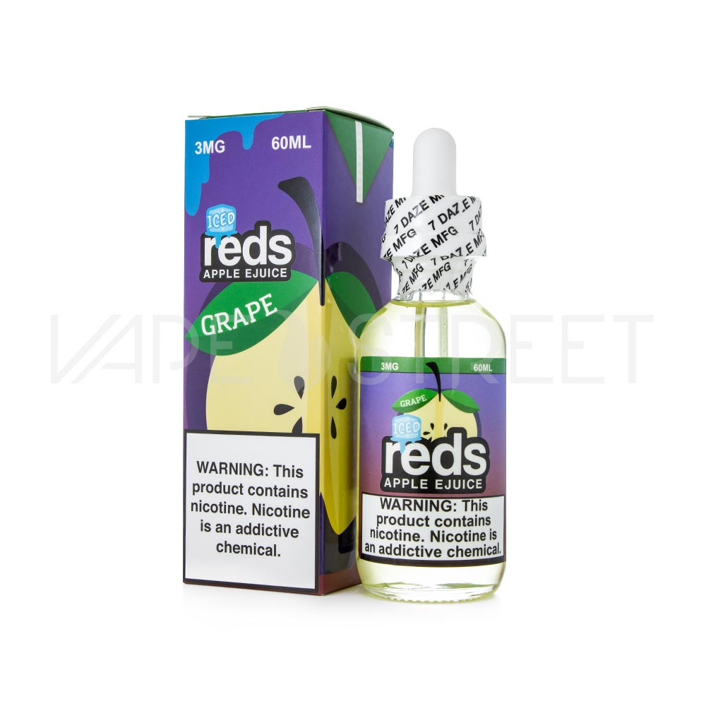 Grape Iced Reds Apple E-Juice by 7 Daze