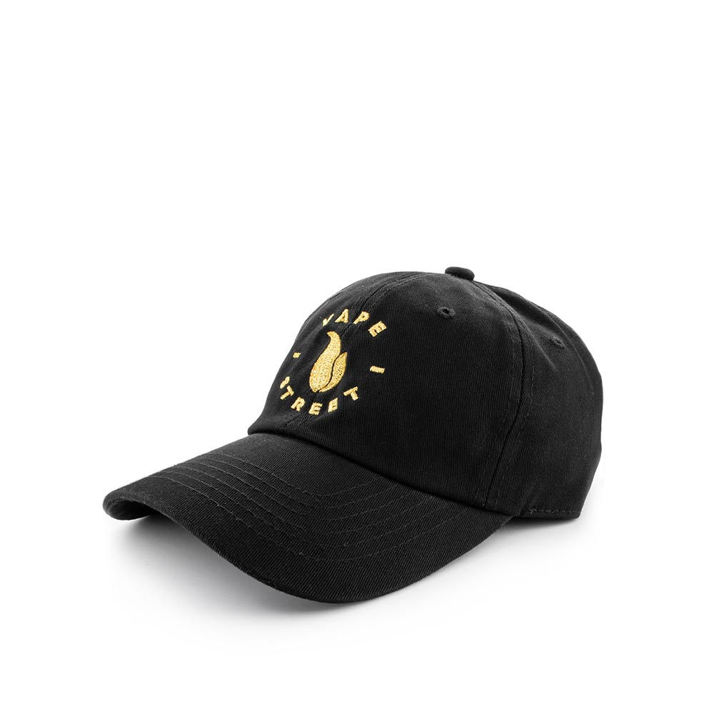 Vape Street Black Gold Circle Logo Dad Hat