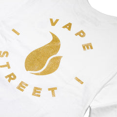 Vape Street Gold Circle Logo Long Sleeve Detail