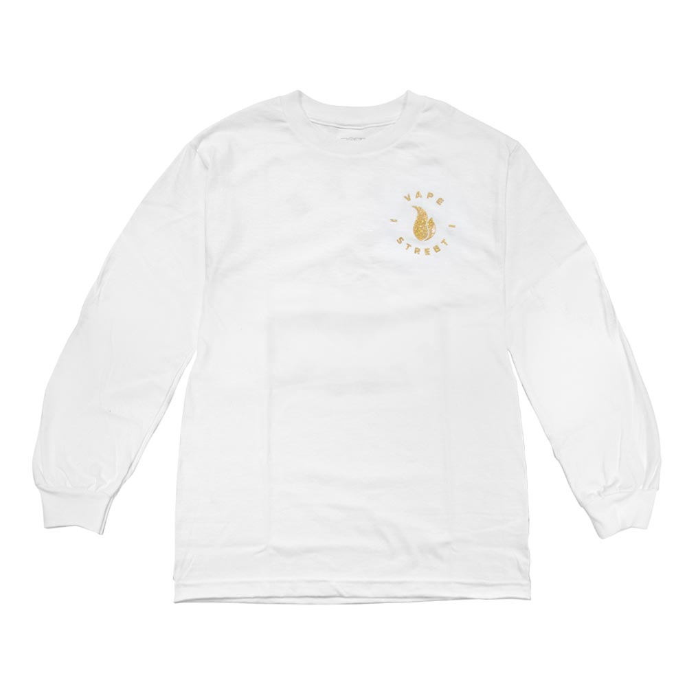 Vape Street Gold Circle Logo Long Sleeve Front