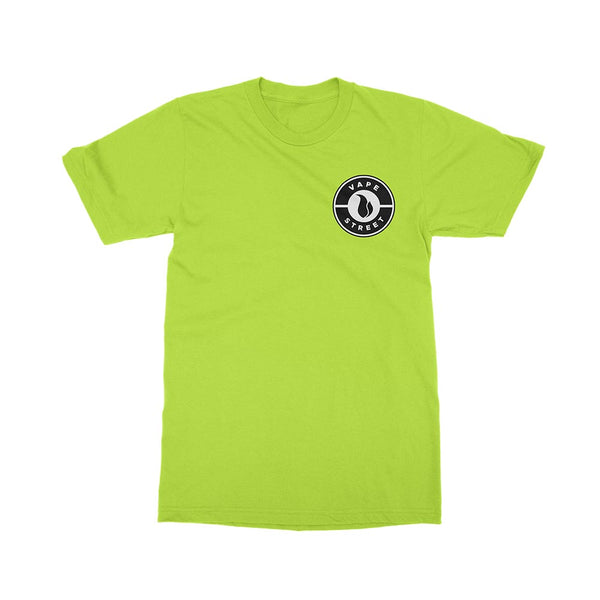 Vape Street Badge Logo Green T-Shirt