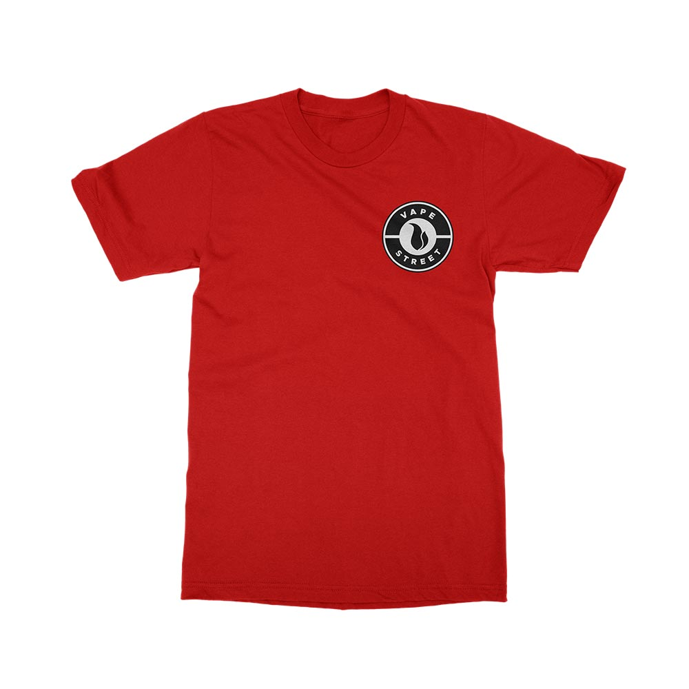 Vape Street Badge Logo Red T-Shirt