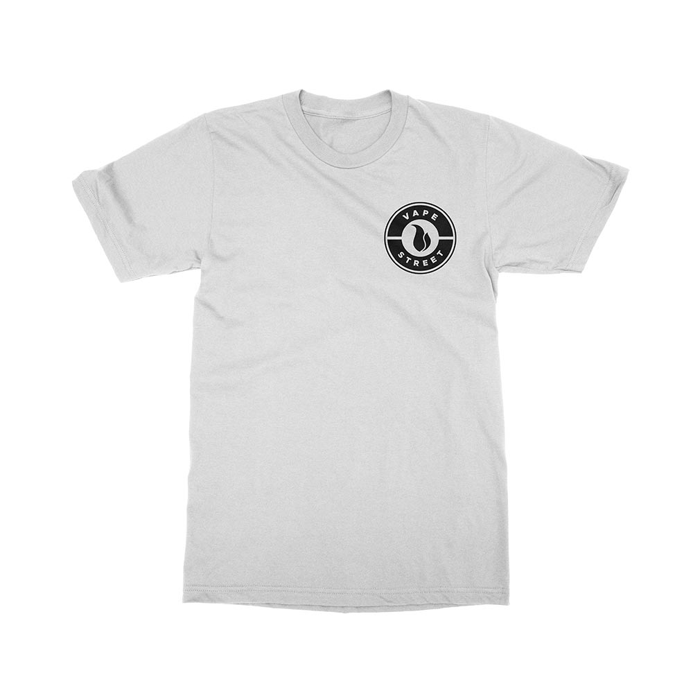 Vape Street Badge Logo White T-Shirt