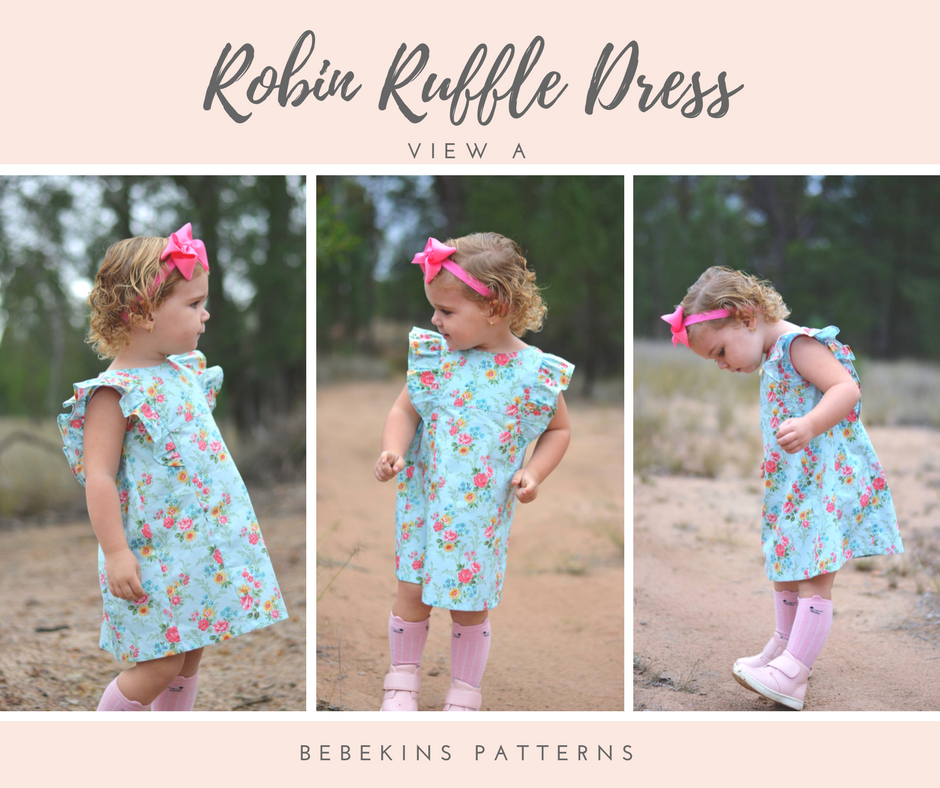 Robin Ruffle Dress - View A