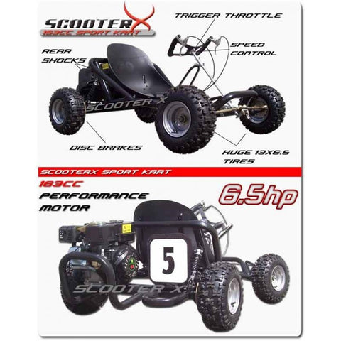 CALIFORNIA GO KART 6.5HP OFF ROAD SPORT KART