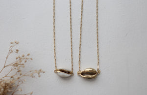 Gold Chunky Shell Necklace