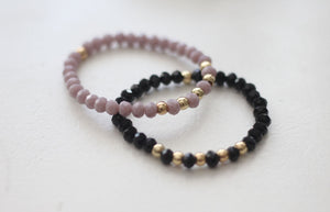 Smokey Lavender Beaded Bracelets