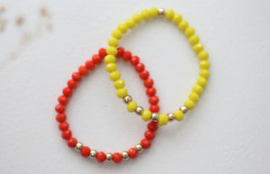 Sunset Beaded Bracelets