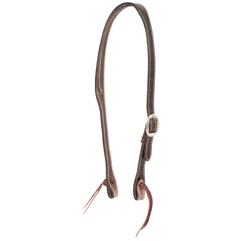 "3/4"" English Bridle Coffee Split Ear Headstall"