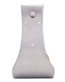 "4"" Stainless Steel Covered Wooden Stirrups"
