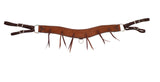 "3-1/2"" Rosewood Leather Rough Out One Piece Breast Collar With Latigo Strings"