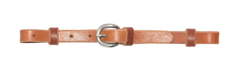 "5/8"" Harness Leather Curb Strap With Stainless Steel Buckle"