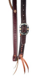 "1"" Leather Buckstitched Cowboy Knot Slip  Ear Headstall With Custom Texas Buckle"