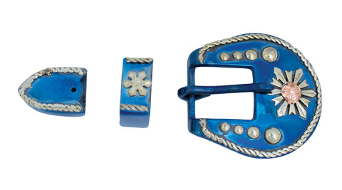 Conquistador Snowflake Belt Buckle Set