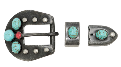 Southwest Dark Grey Steel Buckle Set