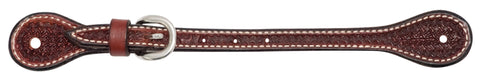 "Rosewood Leather Spider Stamp 5/8"" Spur Straps"