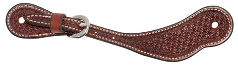 Youth Rosewood Leather Spider Stamp Cowboy  Spur Straps