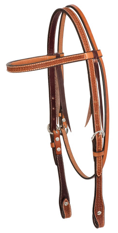 "5/8"" Golden Leather Spider Stamp  Browband Headstall"