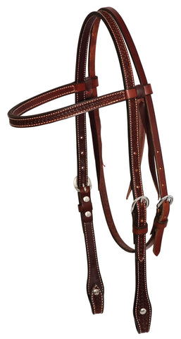 "5/8"" Rosewood Leather Spider Stamp  Browband Headstall"