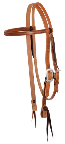 "3/4"" Twisted & Tied Leather Browband Headstall"
