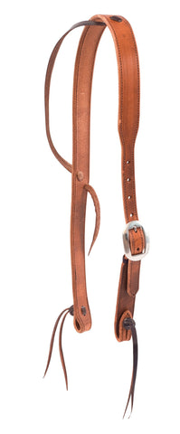 "1-1/4"" Harness Leather Cowboy Knot Slip  Ear Headstall"