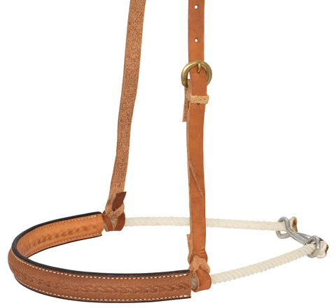 "1"" Leather Covered Single Rope Noseband"